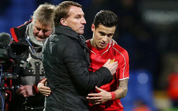 Rodgers: Ο Coutinho είναι χαρούμενος στην Liverpool