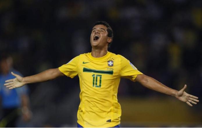 Ο Coutinho με την φανέλα της Εθνικής Βραζιλίας