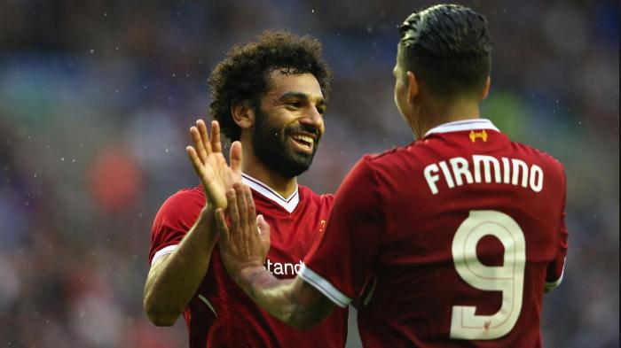 Mohamed Salah και Roberto Firmino.