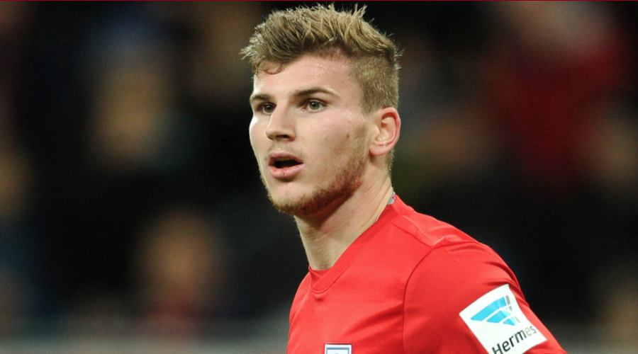 O Timo Werner με τη φανέλα της Red Bull Leipzig