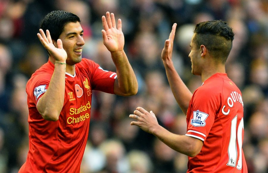 Και ο Luis Suarez μαζί με τον Steven Gerrard στην ομάδα του Philippe Coutinho.