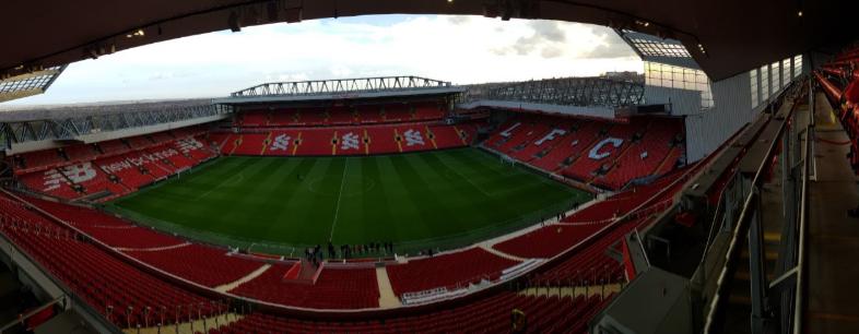 Το Anfield από ψηλά. Πολύ ψηλά! Φωτογραφία από τον τελευταίο όροφο της νέας Main Stand