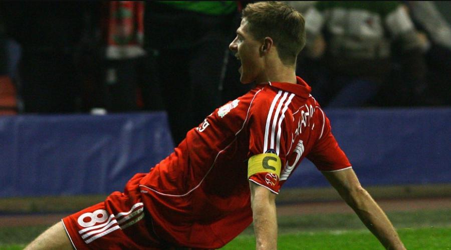 Ο Gerrard με το περιβραχιόνιο του αρχηγού.