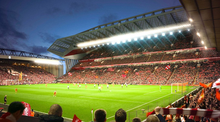 Η Liverpool ετοιμάζει εργασίες όπως αυτές της Main Stand.