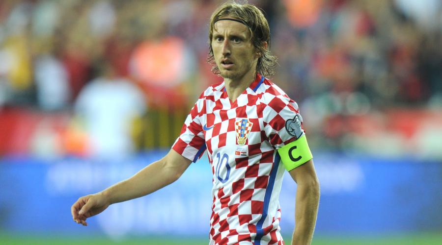 Ο Modric με την εθνική Κροατίας.
