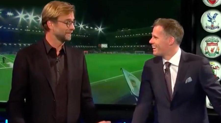 Jurgen Klopp και Jamie Carragher στο πλατό του Sky Sports.