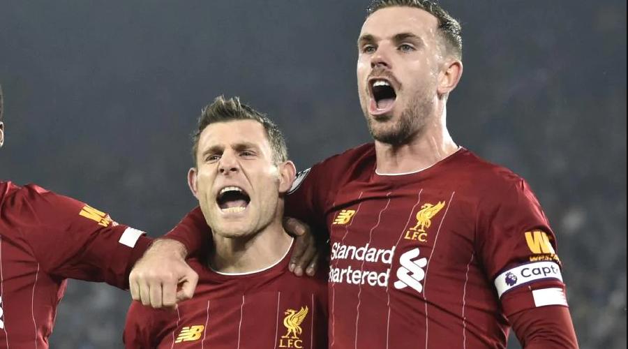 James Milner και Jordan Henderson στη νίκη επί της Leicester στο King Power.