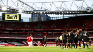 Οι παίκτες της Liverpool στο Emirates.