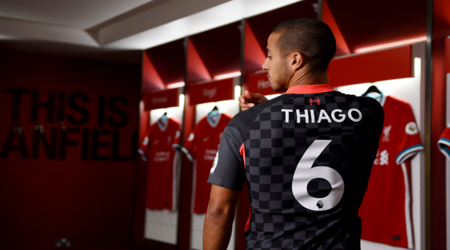 O Thiago με την τρίτη φετινή εμφάνιση της Liverpool.