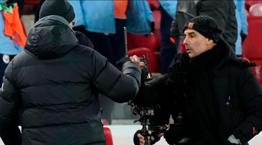 Klopp και Guardiola στο Anfield.