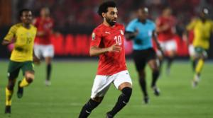O Mo Salah με τη φανέλα της εθνικής Αιγύπτου.