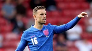 O Jordan Henderson με την εθνική Αγγλίας στην προετοιμασία για το Euro.